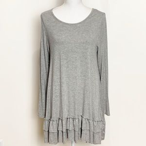 EASEL- Heather Gray Jersey Cotton Dress. Size Med.